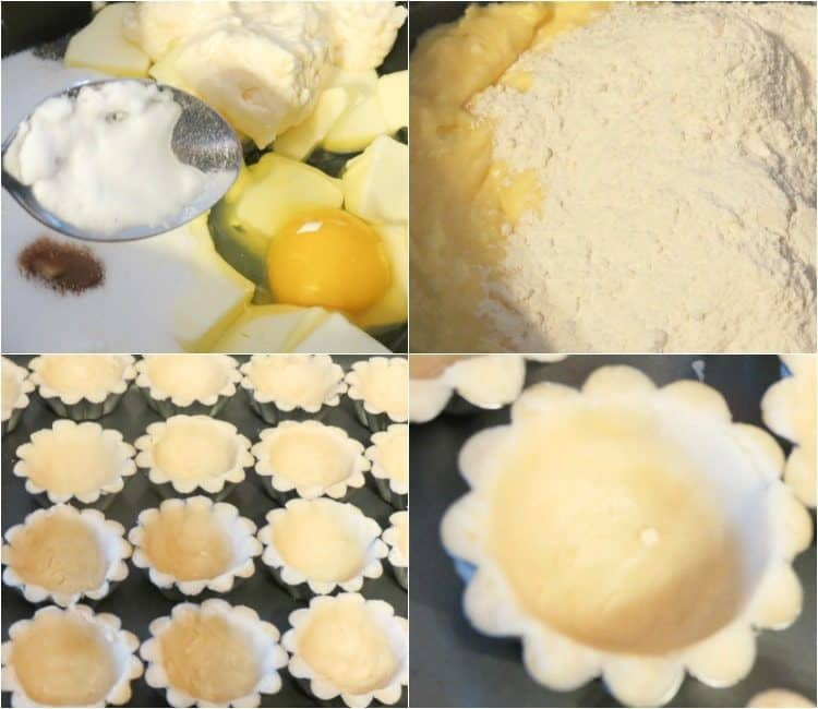 How to make these mini tarts dough.