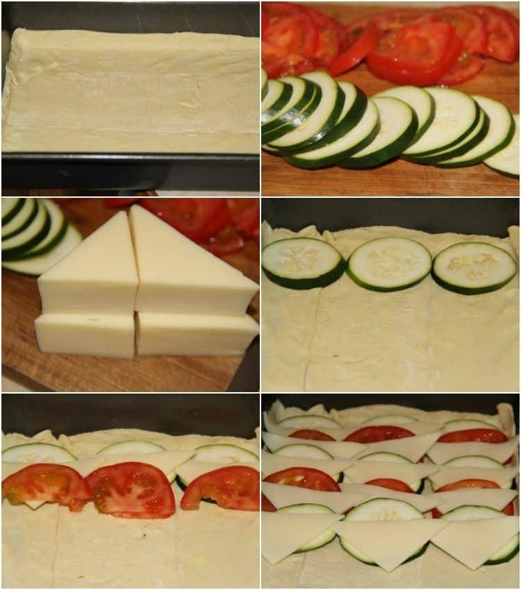How to prepare this amazing Tomato Zucchini and Cheese Tart recipe.
