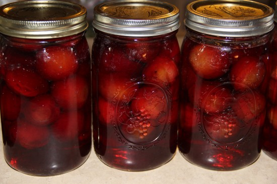 How to make canned plum kompot with majon jars.