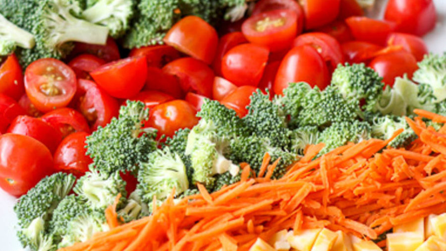 Broccoli Tomato and Cheese Salad recipe.