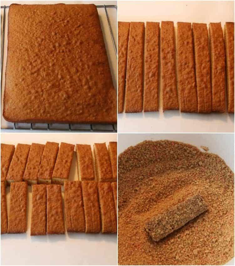 How to make Zakarpatski Palochki. How to cut the honey cake bars.
