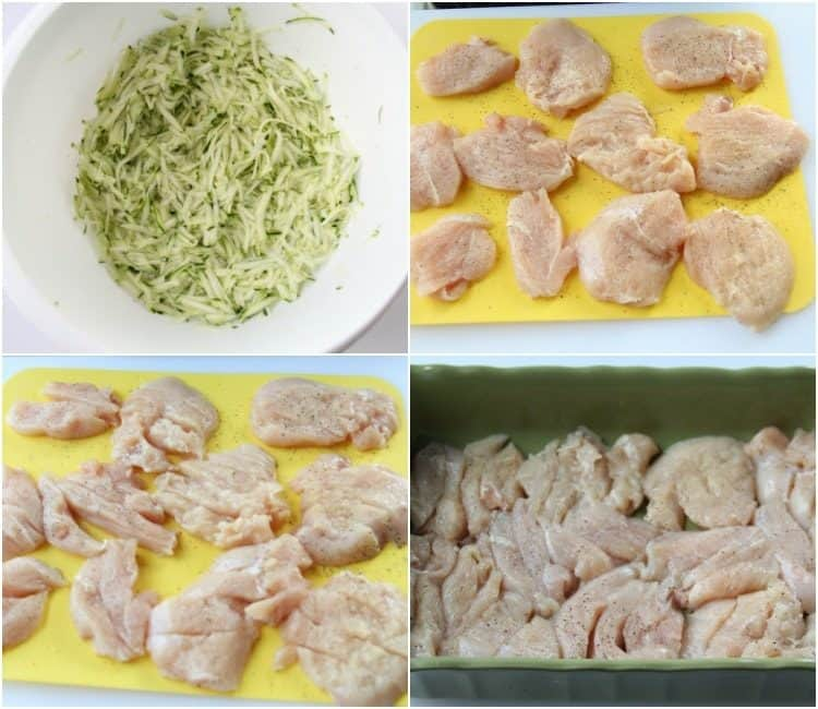 How to prepare the chicken for this casserole recipe!