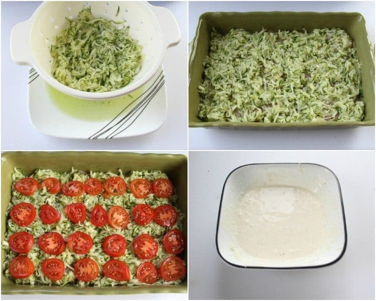How to make Chicken Zucchini casserole with mushrooms and tomatoes.