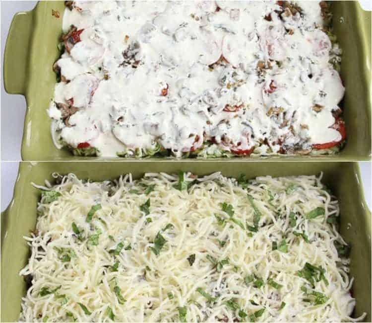 How to make Chicken Zucchini and Mushroom Casserole.