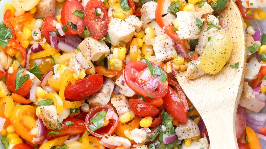 Vegetable Chicken Salad Recipe