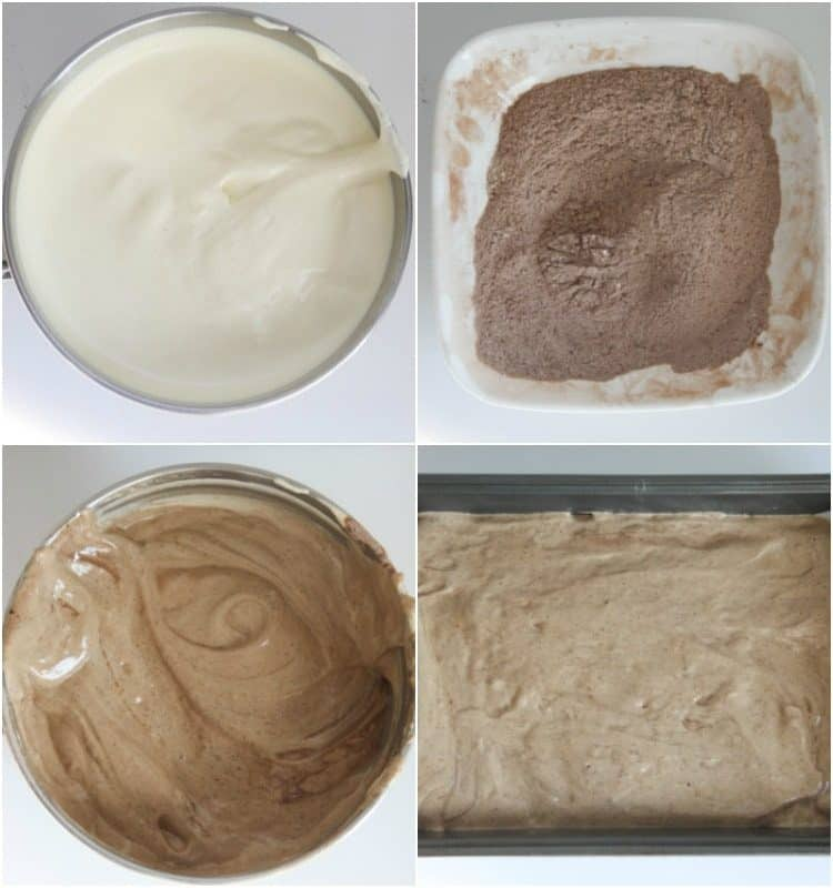 How to make chocolate cake batter for this simple chocolate cake recipe with strawberries.