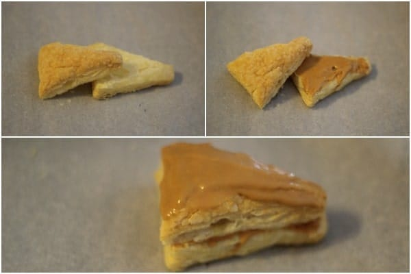 How to make pastry triangles with a dulce de leche cream.