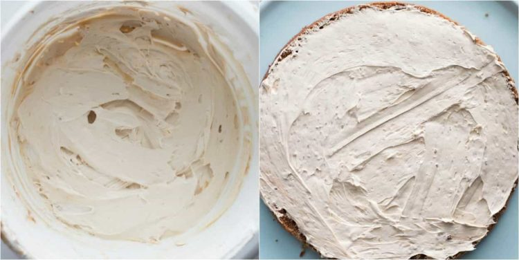 How to make the coffee cream for this chocolate layered coffee cake.