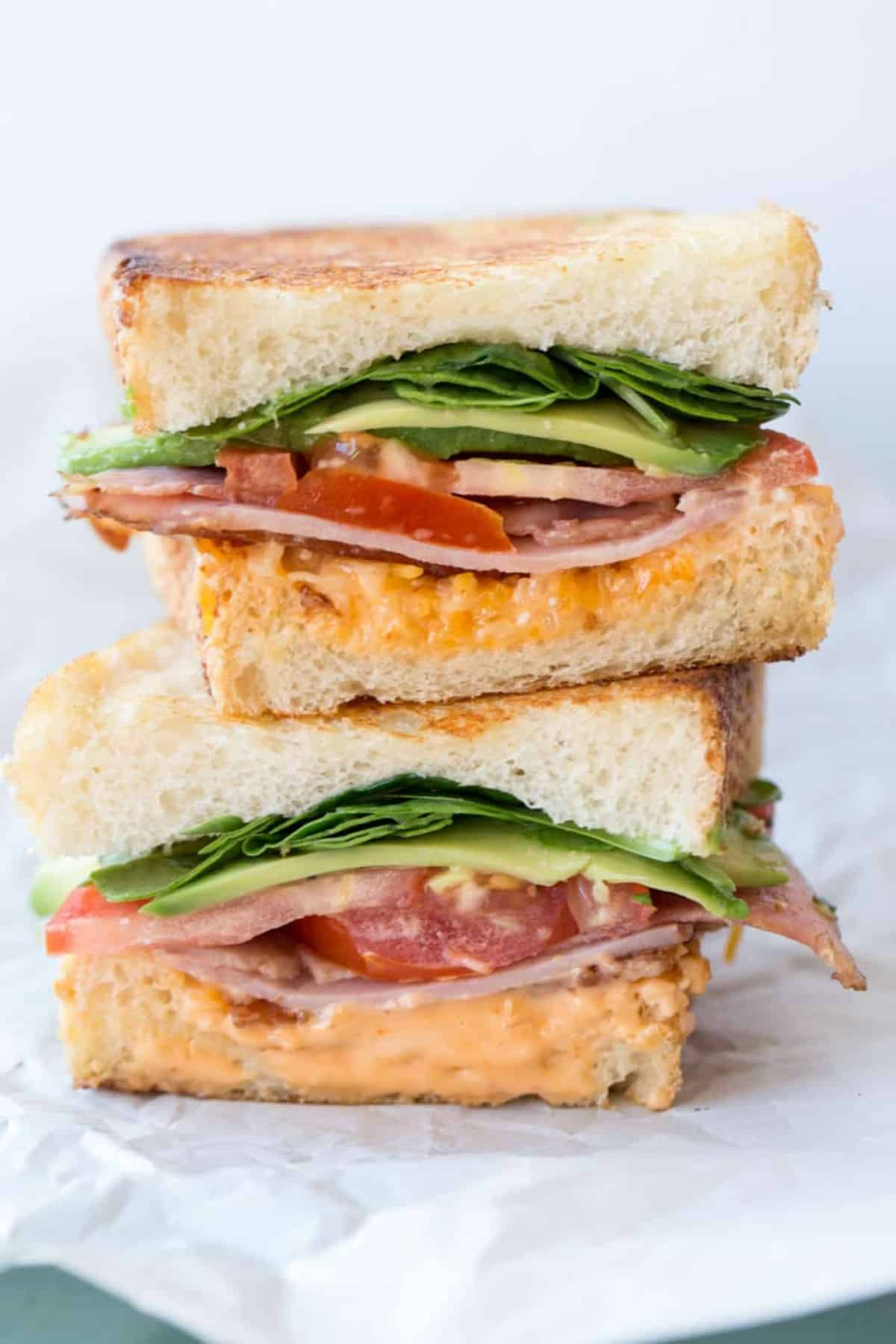 Ham Bacon Avocado Tomato Chipotle Sandwich