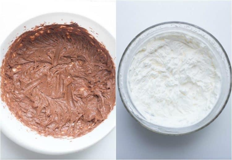 Preparing the soft Nutella cream recipe.