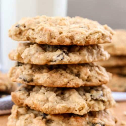 Soft oatmeal coconut and raisin cookie recipe.