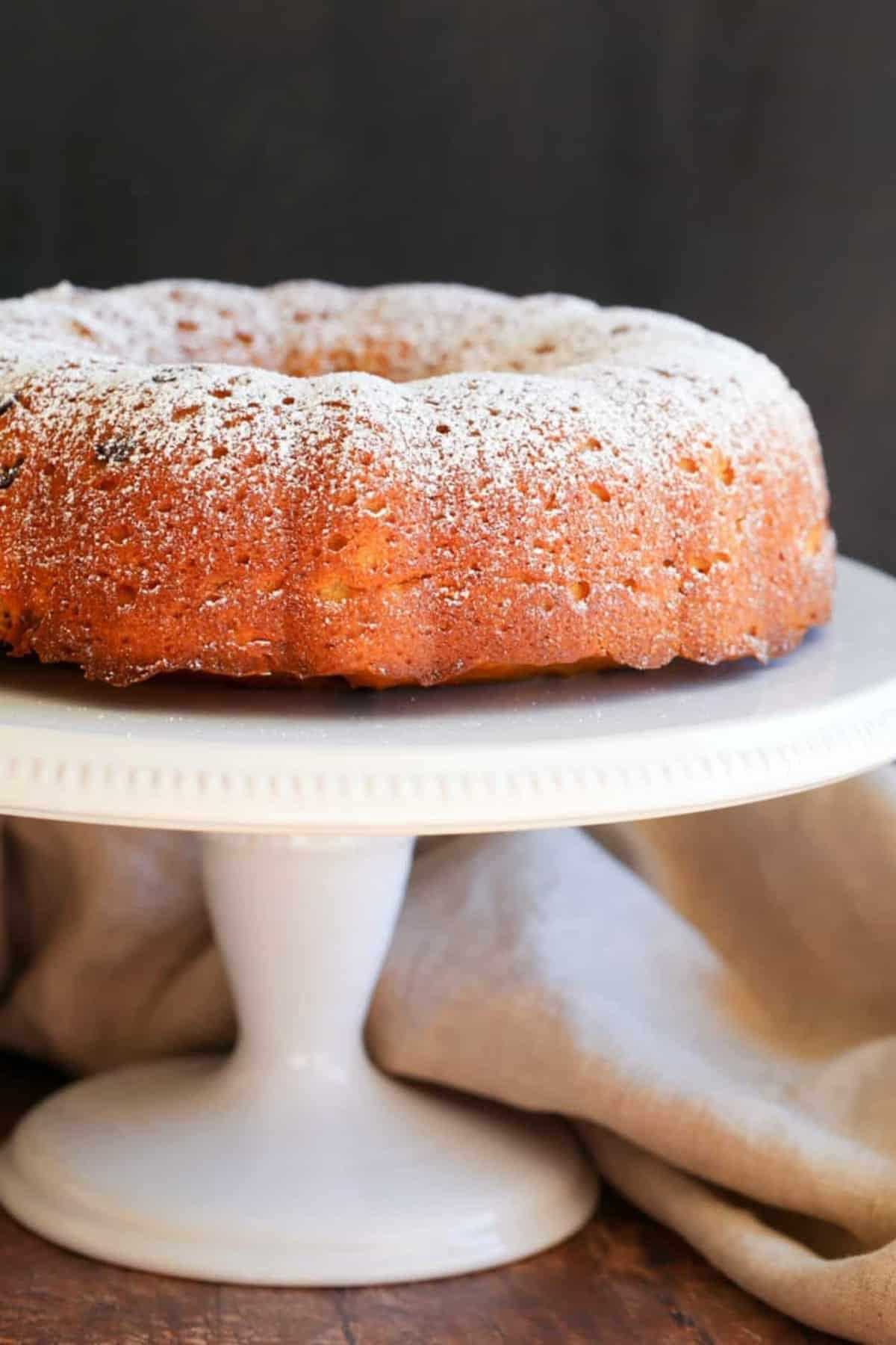 Combine ingredients for cake batter.
