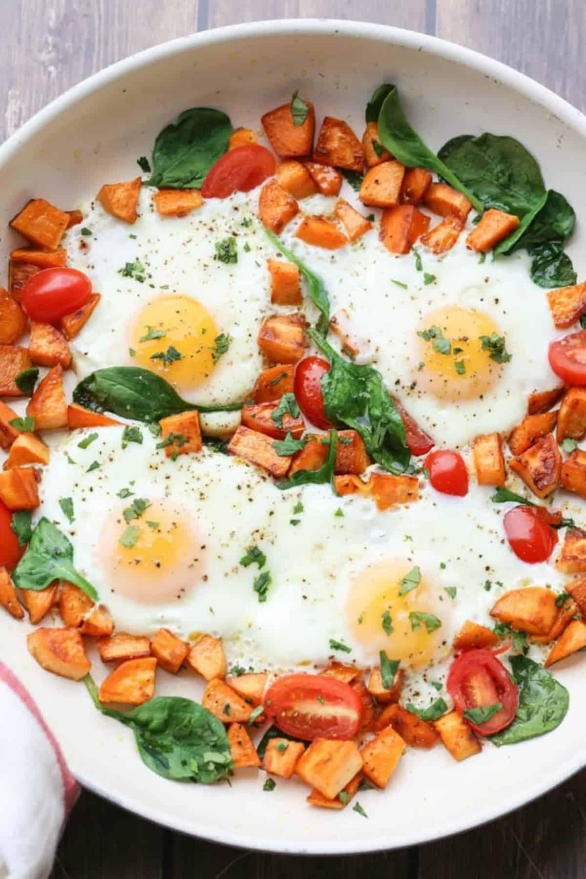 Sweet Potato & Egg One-Skillet Breakfast