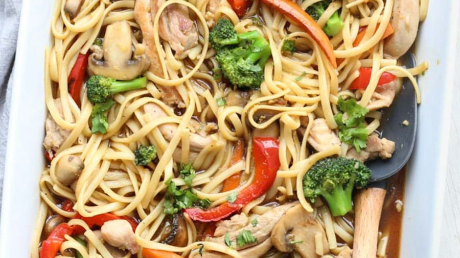 Chicken and vegetables stir fry recipe.