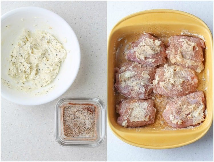Step by step on how to make lemon butter thighs.
