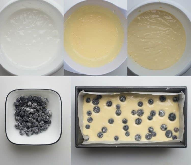 Lemon Blueberry Cake Loaf Recipe, step by step pictures of how to make this lemon blueberry bread.
