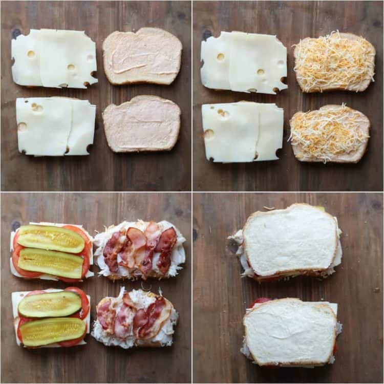 Step by step instructions on how to male turkey bacon grilled cheese recipe.