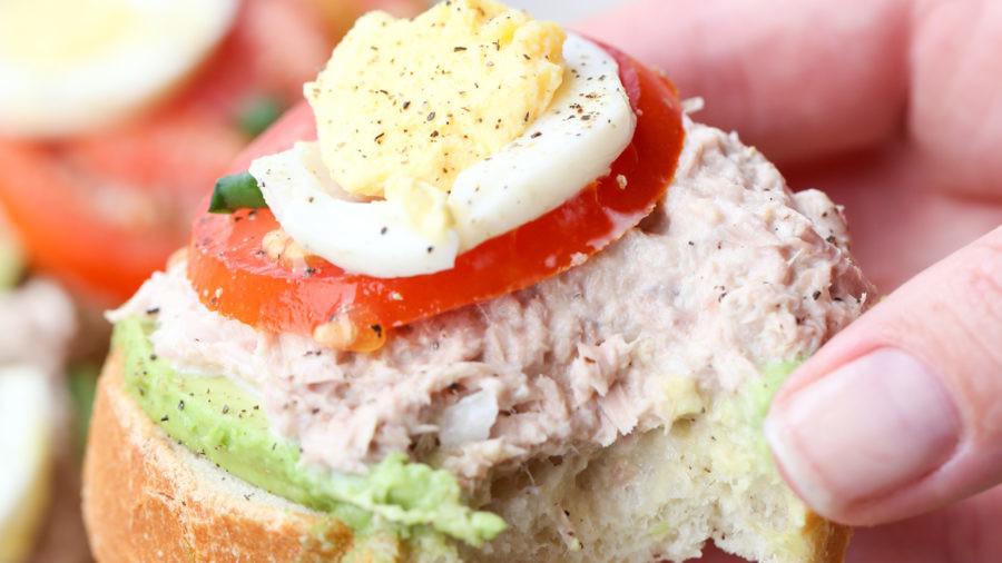 Avocado Egg Tuna Sandwich
