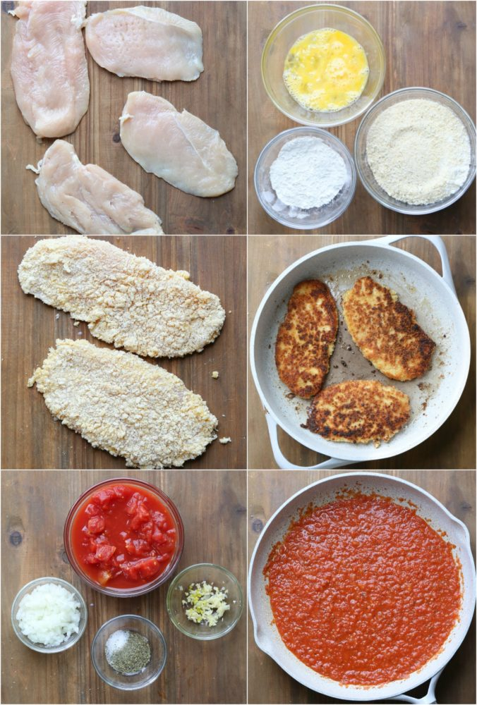 Step by step instructions on how to make chicken parmesan recipe!
