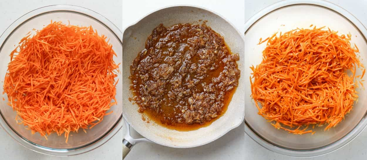 Step by step of how to make this Korean carrot salad recipe.