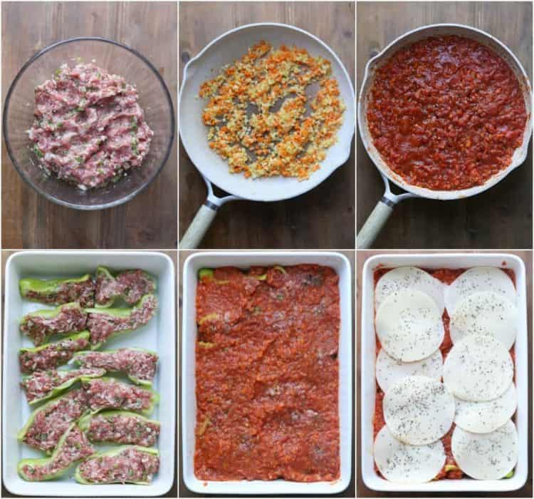 Step by step pictures on how to make Italian peppers recipe.