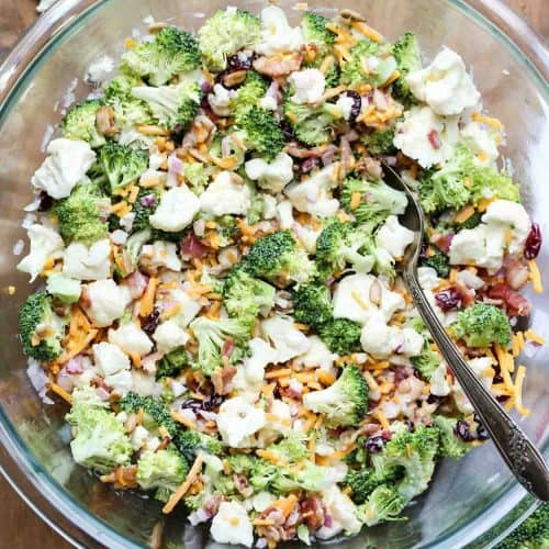 Cauliflower Broccoli Salad Recipe Video Valentina S Corner