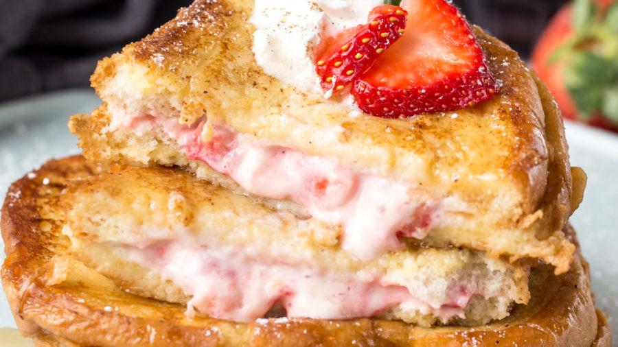 Strawberry Cheesecake Stuffed French Toast Recipe
