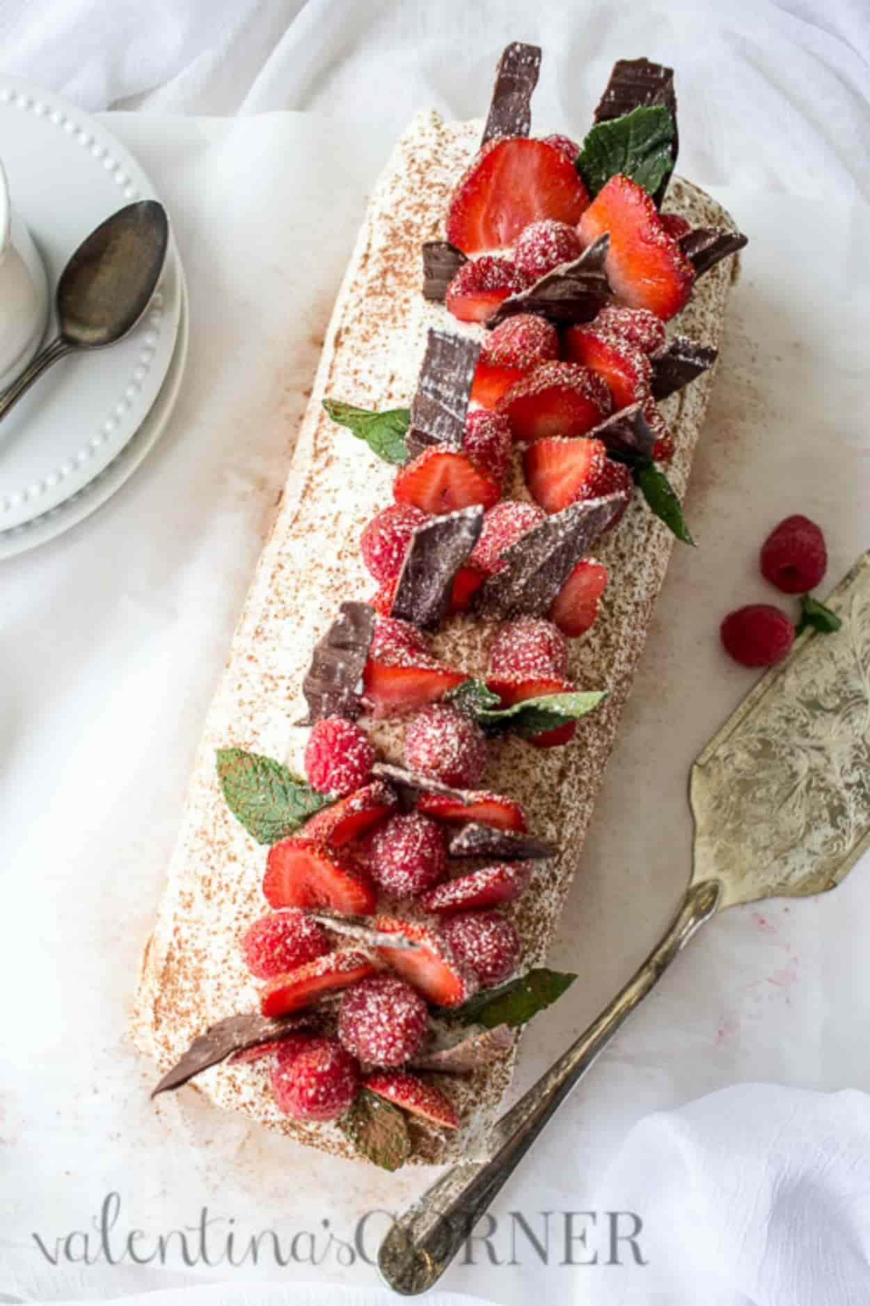 Tiramisu And Berries Cake Roll Recipe