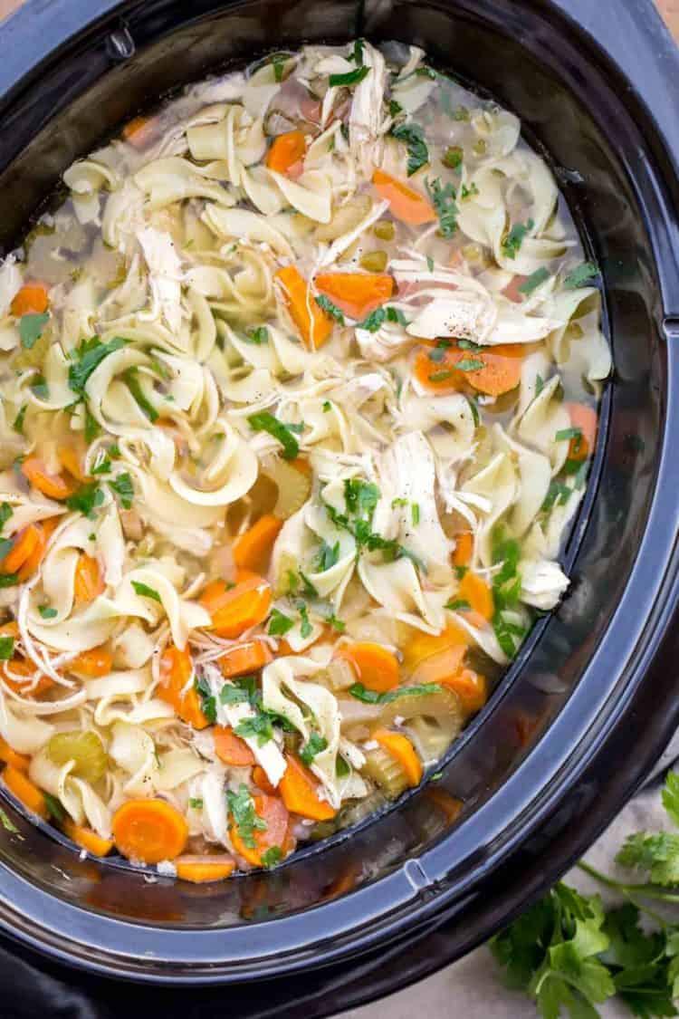 Crockpot Chicken Noodle Soup Recipe Valentina S Corner