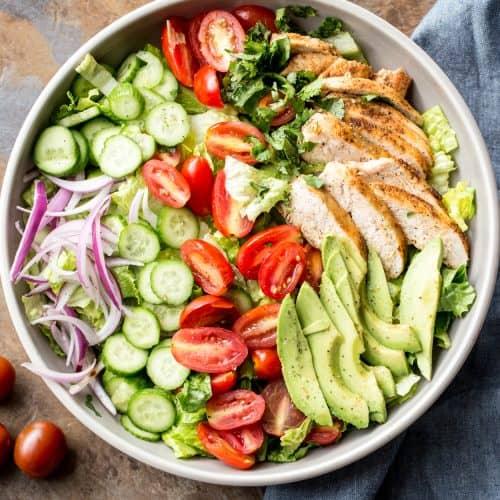 Romaine Avocado Chicken Salad Recipe