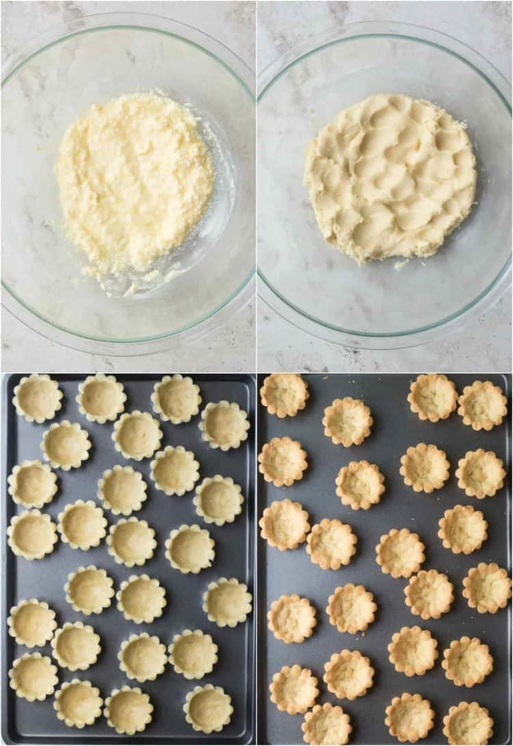How to make the tartlet batter. How to form the tartlets into the molds.