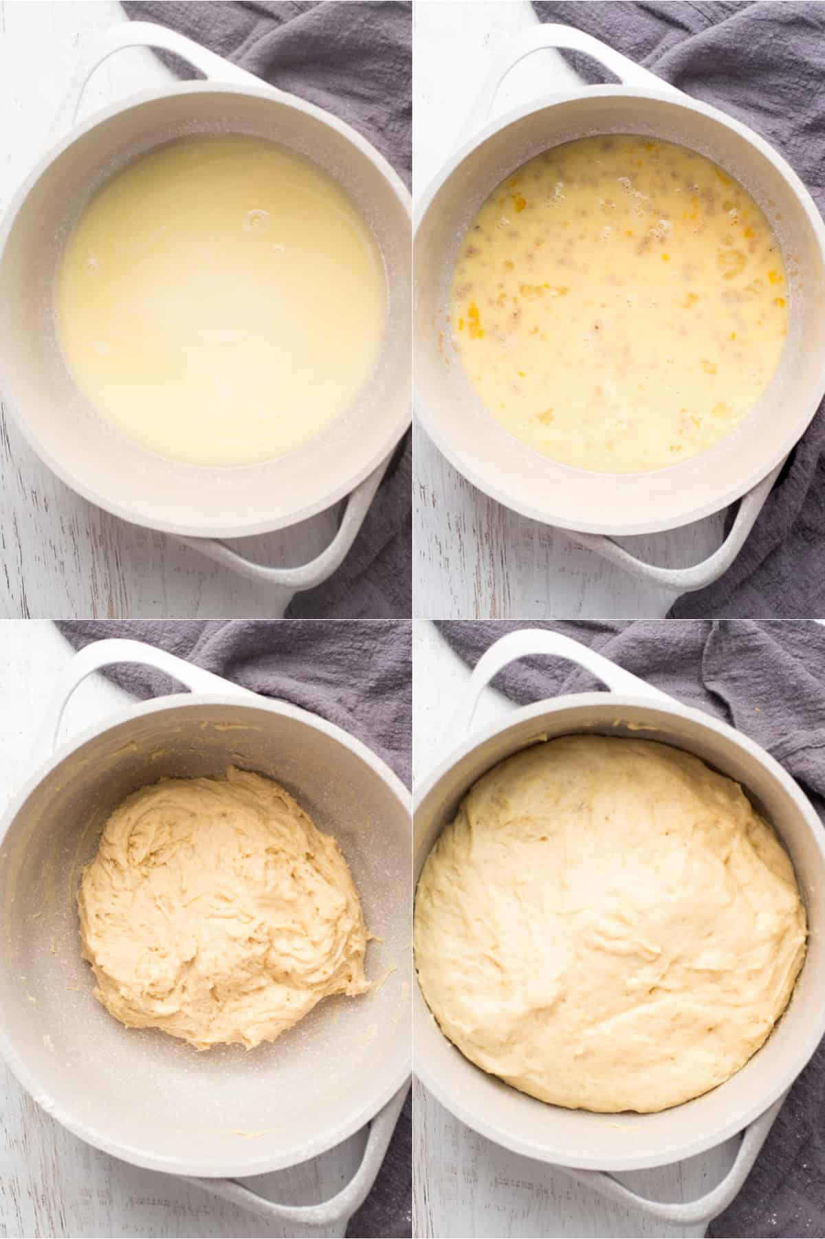How to make the dough for this sweet bread recipe.