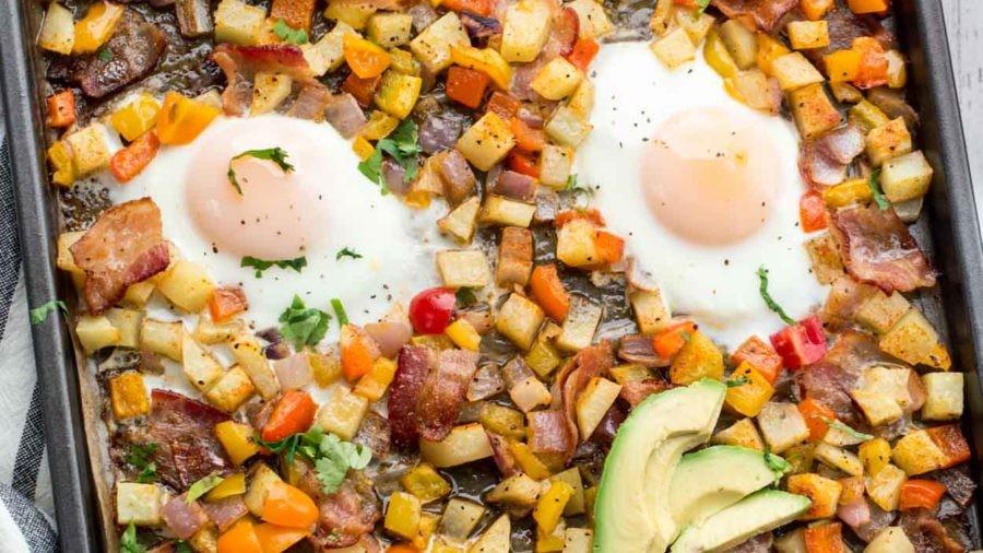 One Pan Breakfast Potatoes and Eggs