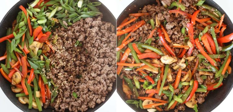 Step by step photos how to cook beef stir fry.