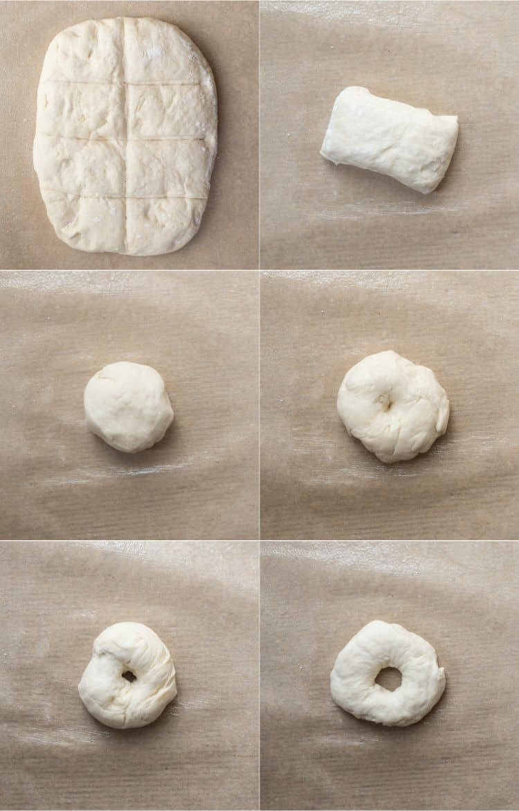 How to form bagels with homemade dough.