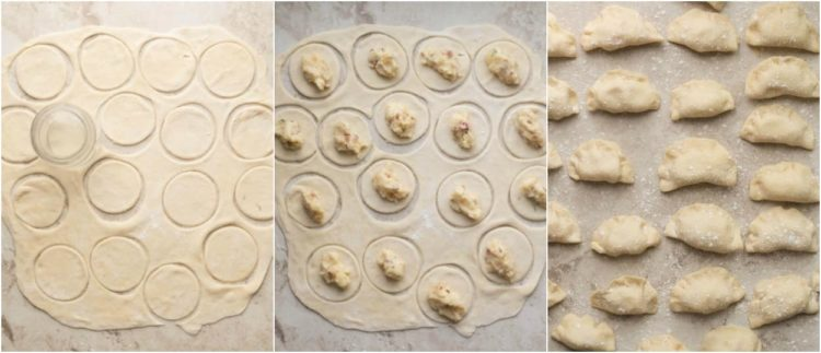 How to assemble together this pierogi recipe with potato filling.