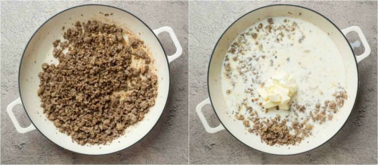 Recipe for how to make sausage gravy for biscuits and gravy!
