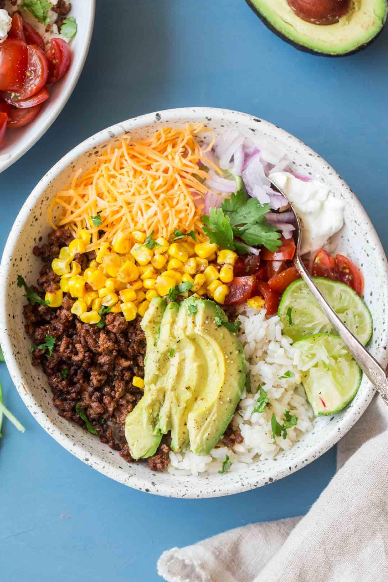 Simple Taco Bowl Recipe Valentina S Corner